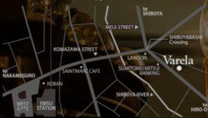 恵比寿ラウンジバレラのマップ