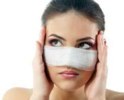 鼻整形した女性の画像