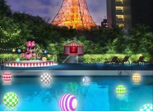 東京プリンスホテル(芝公園)のナイトプール