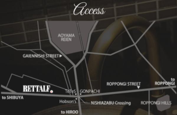 西麻布レトルフへのアクセスmap
